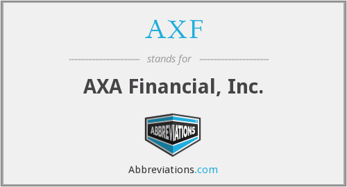 AXF - AXA Financial, Inc.