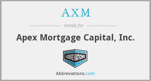 AXM - Apex Mortgage Capital, Inc.