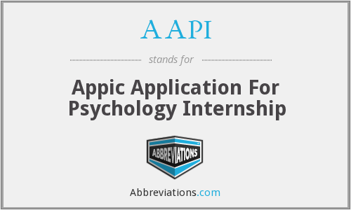 AAPI - Appic Application For Psychology Internship