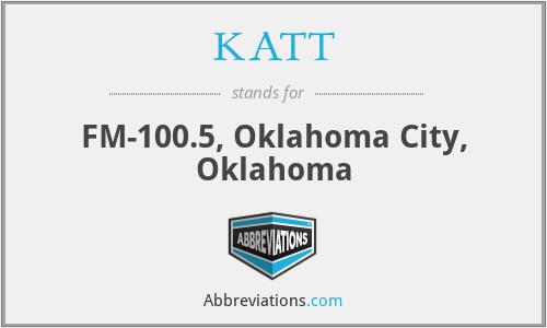 KATT - FM-100.5, Oklahoma City, Oklahoma