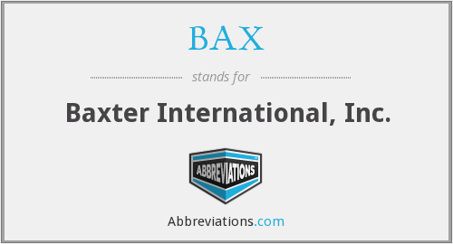 BAX - Baxter International, Inc.