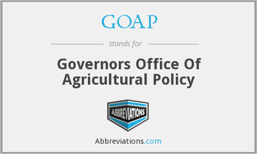 GOAP - Governors Office Of Agricultural Policy