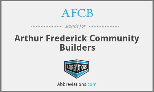 AFCB - Arthur Frederick Community Builders