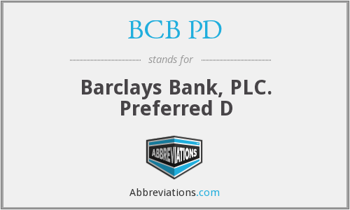 What does BCB PD stand for?