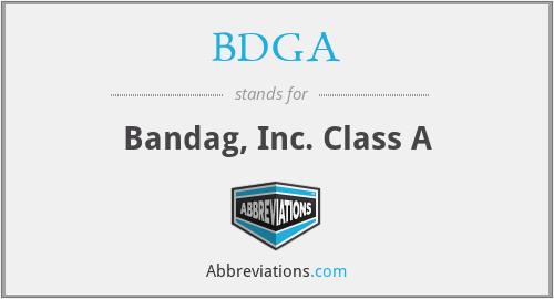 BDGA - Bandag, Inc. Class A