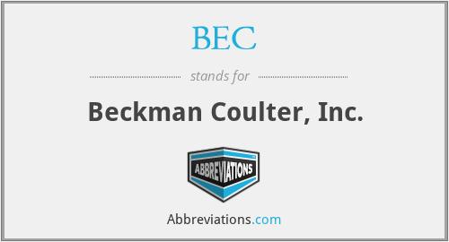 BEC - Beckman Coulter, Inc.