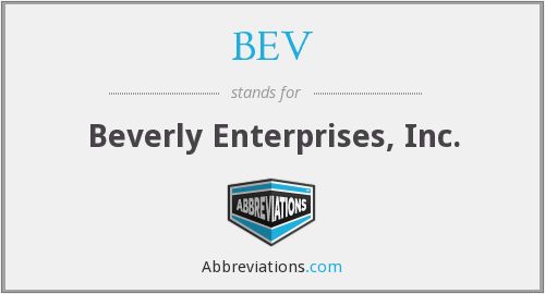 BEV - Beverly Enterprises, Inc.