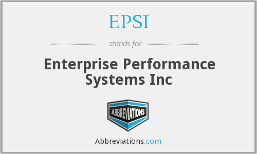 EPSI - Enterprise Performance Systems Inc