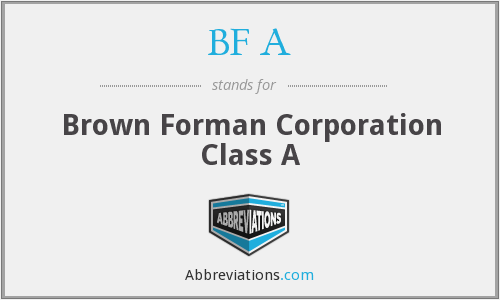 BF A - Brown Forman Corporation Class A