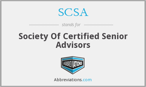 SCSA - Society Of Certified Senior Advisors