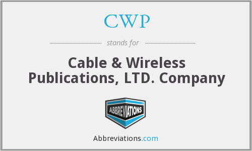 CWP - Cable & Wireless Publications, LTD. Company