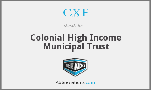 CXE - Colonial High Income Municipal Trust
