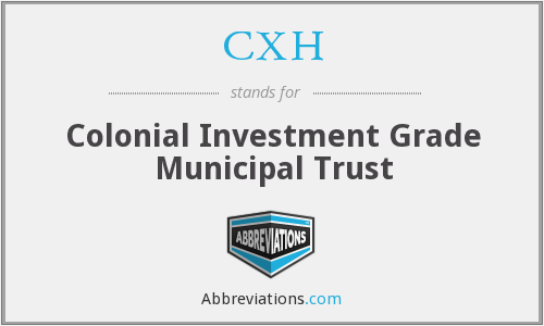 CXH - Colonial Investment Grade Municipal Trust