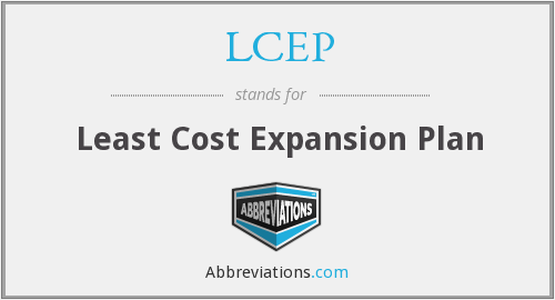 LCEP - Least Cost Expansion Plan