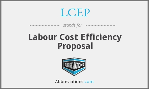 LCEP - Labour Cost Efficiency Proposal