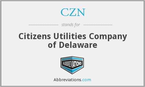 CZN - Citizens Utilities Company of Delaware