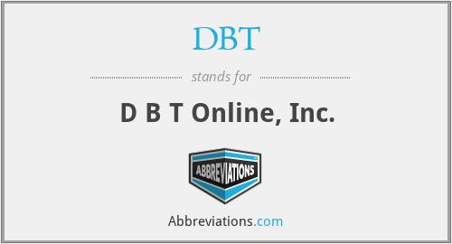 DBT - D B T Online, Inc.