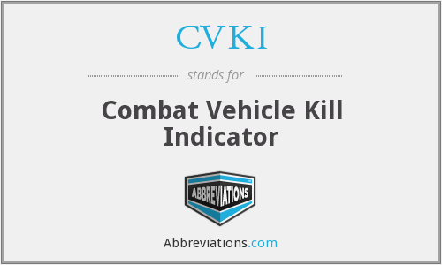 CVKI - Combat Vehicle Kill Indicator