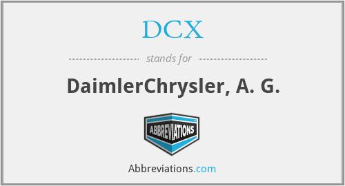 DCX - DaimlerChrysler, A. G.