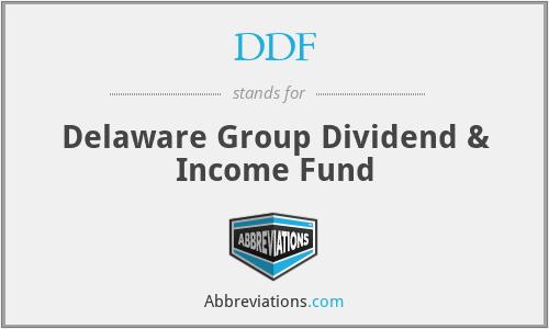 DDF - Delaware Group Dividend & Income Fund