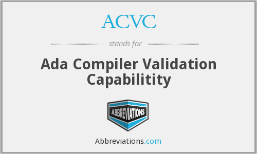 ACVC - Ada Compiler Validation Capabilitity
