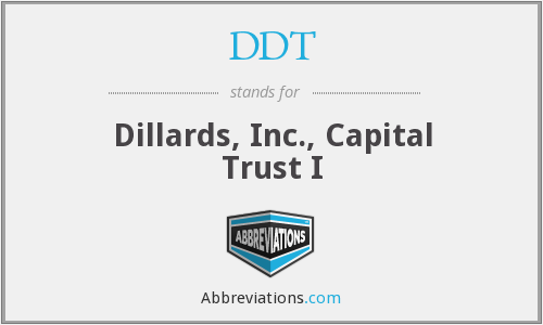 DDT - Dillards, Inc., Capital Trust I