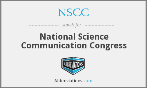 NSCC - National Science Communication Congress