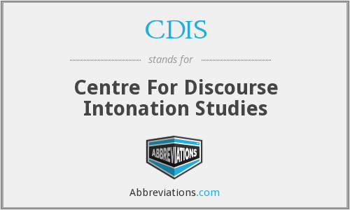 CDIS - Centre For Discourse Intonation Studies