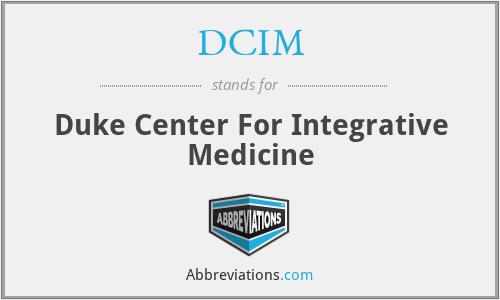 DCIM - Duke Center For Integrative Medicine