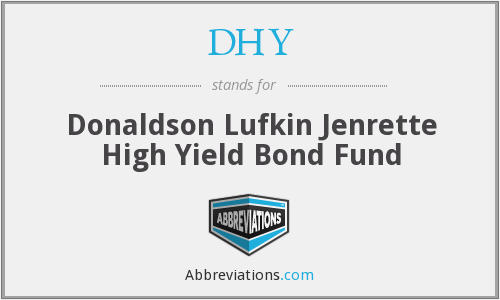 DHY - Donaldson Lufkin Jenrette High Yield Bond Fund