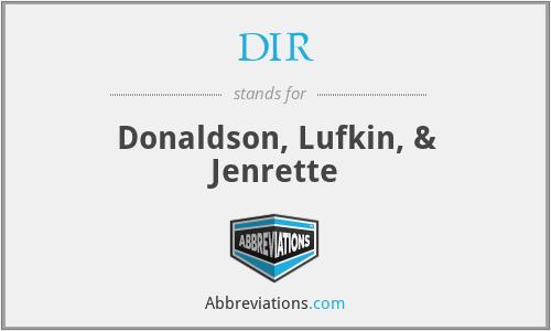 DIR - Donaldson, Lufkin, & Jenrette