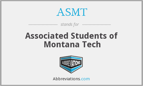 ASMT - Associated Students of Montana Tech