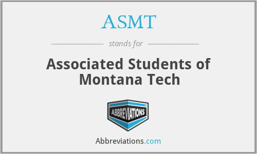 ASMT - Associated Students of Montana Tech