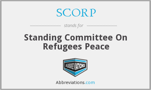 SCORP - Standing Committee On Refugees Peace
