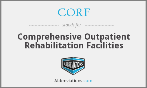 What does CORF stand for?