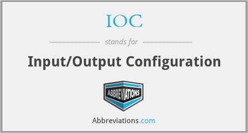 IOC - Input/Output Configuration