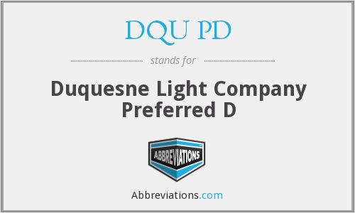 What does DQU PD stand for?
