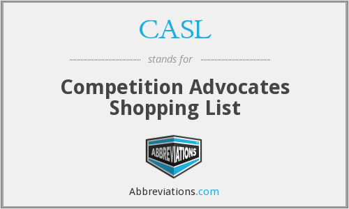 CASL - Competition Advocates Shopping List