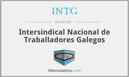 INTG - Intersindical Nacional de Traballadores Galegos