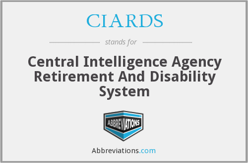 What does CIARDS stand for?