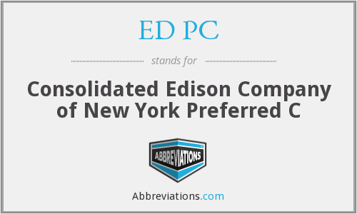 What does ED PC stand for?