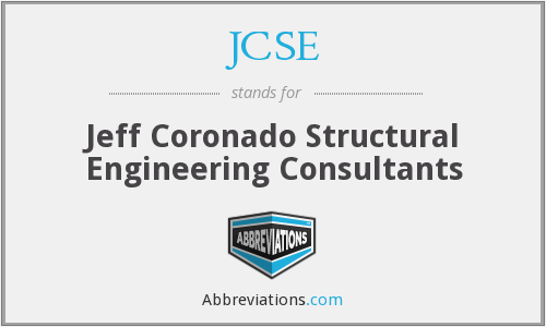 JCSE - Jeff Coronado Structural Engineering Consultants