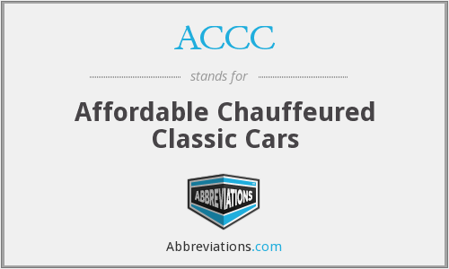 ACCC - Affordable Chauffeured Classic Cars