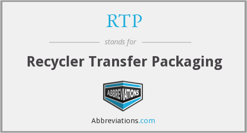 RTP - Recycler Transfer Packaging