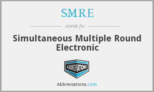 SMRE - Simultaneous Multiple Round Electronic