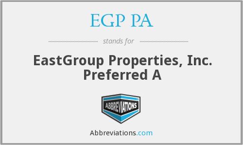 What does EGP PA stand for?