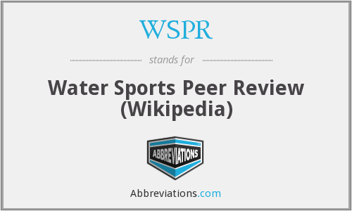 WSPR - Water Sports Peer Review (Wikipedia)