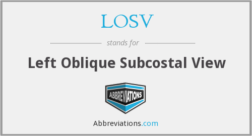 LOSV - Left Oblique Subcostal View