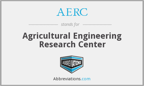 AERC - Agricultural Engineering Research Center