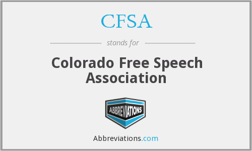 CFSA - Colorado Free Speech Association
